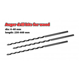 Set of 3 auger drill bits...