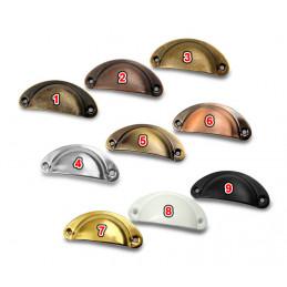 Set van 8 schelpvormige handgrepen voor meubels: kleur 3