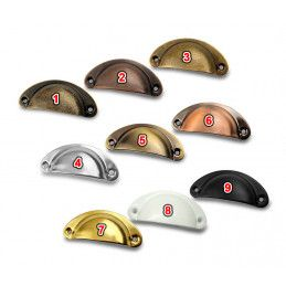 Set of 8 shell shaped handles for furniture: color 7  - 2