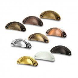 Conjunto de 8 manijas en forma de concha para muebles: color 7  - 1