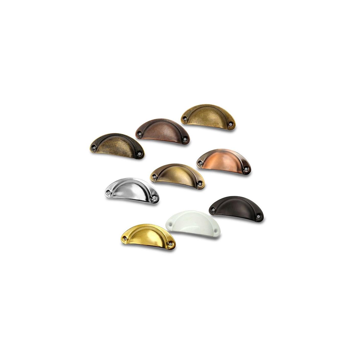 Lot de 8 poignées en forme de coque pour meuble: couleur 1  - 1
