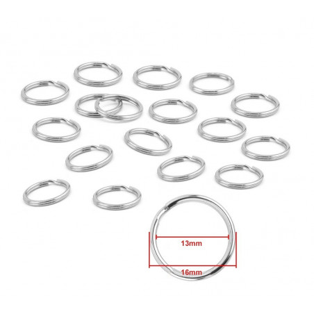 Set van 180 metalen sleutelringen voor sleutelhangers (16 mm