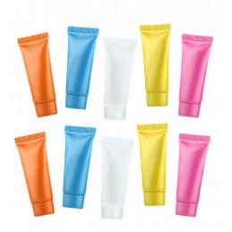 Set di 50 provette ricaricabili vuote (5 ml, colori misti)