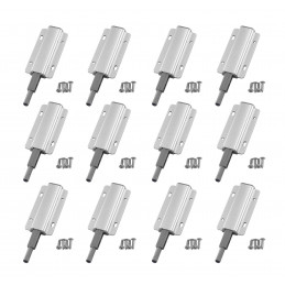 Set van 12 druksnappers voor kastdeuren (rubberen punt)