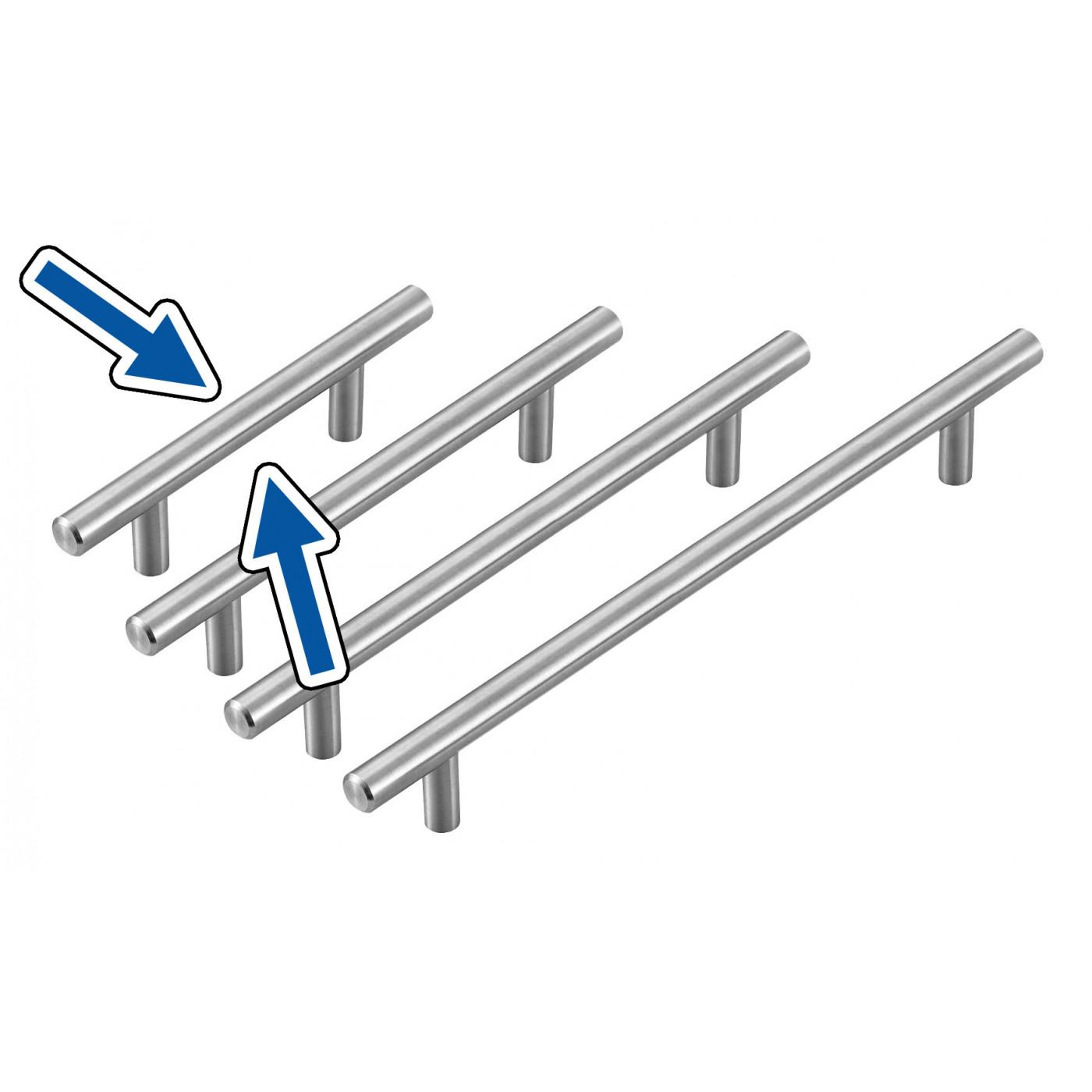 Set van 4 hoge kwaliteit massief stalen handgrepen (maat 1: 96/150 mm)  - 1