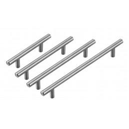 Jeu de 4 poignées en acier massif de haute qualité (taille 2: 128/200 mm)  - 2