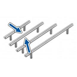 Set van 4 hoge kwaliteit massief stalen handgrepen (maat 2: 128/200 mm)  - 1