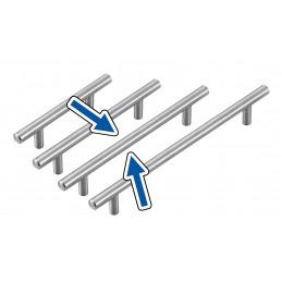 Set van 4 hoge kwaliteit massief stalen handgrepen (maat 3: