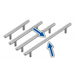 Set di 4 maniglie in acciaio solido di alta qualità (misura 4: