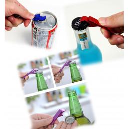 Set of 10 metal bottle openers, color 4: pink  - 2