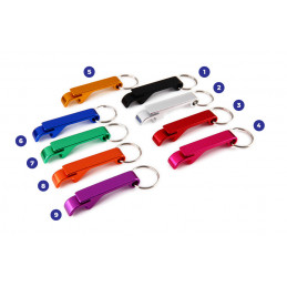 Set of 10 metal bottle openers, color 6: blue  - 1