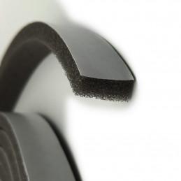 Conjunto de 12 metros de fita de vedação de 18 mm (espuma cinza / preto)  - 2