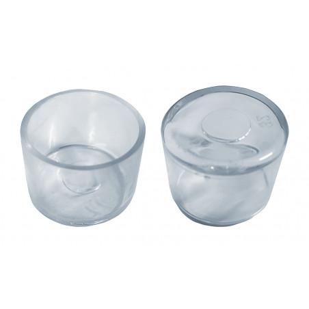 Set von 32 silikonkappen (Außenkappe, rund, 32 mm, transparent)