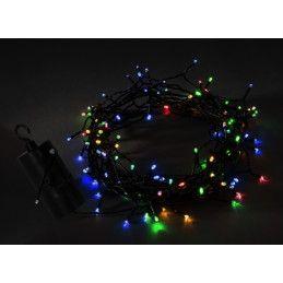 Lumières de Noël LED sur pile AA (50 pièces, 7 mètres, minuterie)  - 1