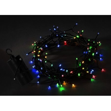 LED christmas lights on AA battery (50 pcs, 7 mtrs, timer)  - 1