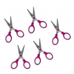 Set of 5 scissors for kids (pink)