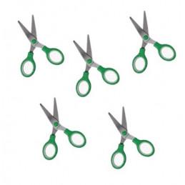 Lot de 5 ciseaux pour enfants (vert)