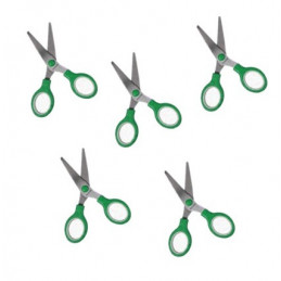 Zestaw 5 nożyczek dla dzieci (zielony)  - 1