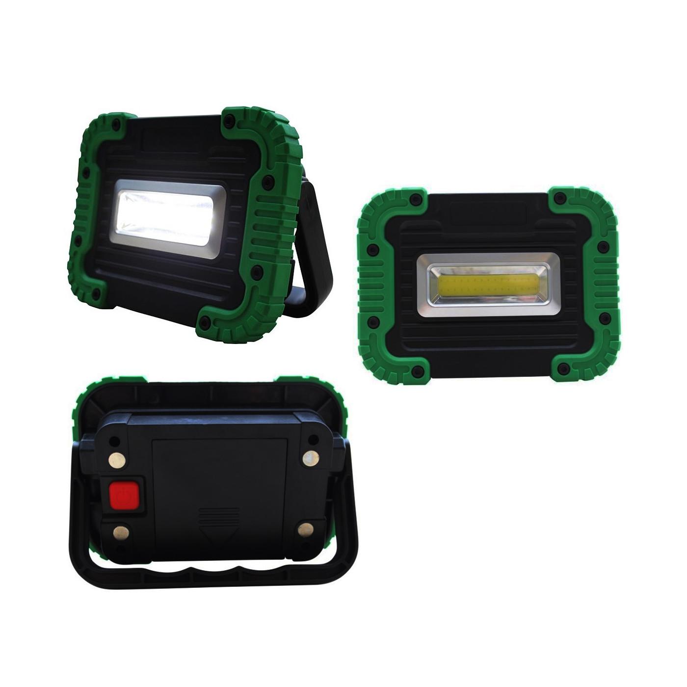 Kleine LED bouwlamp op batterijen (8 Watt)