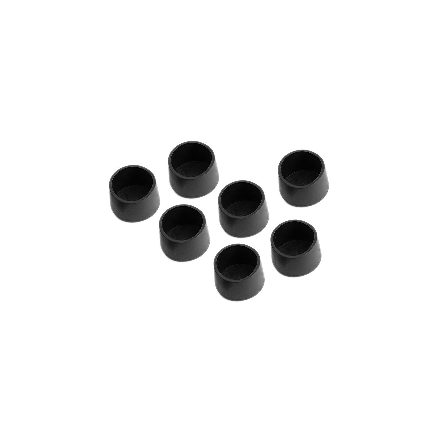 Set of 32 silicone chair leg caps (outside, round, 32 mm, black) [O-RO-32-B]  - 1