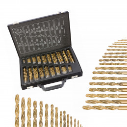 101 pcs drill bits set in case