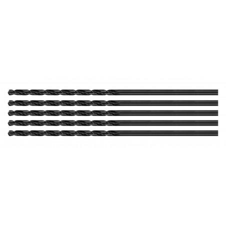 Set of 5 metal drill bits (HSS, 4.0x200 mm)