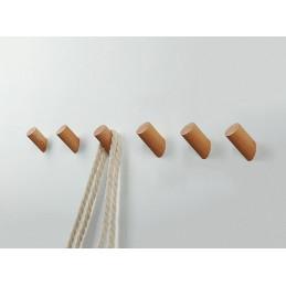 Zestaw 6 drewnianych wieszaków na ubrania, drewno jesionowe  - 1