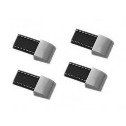 Conjunto de 4 alças de couro (orifício único, preto)  - 1