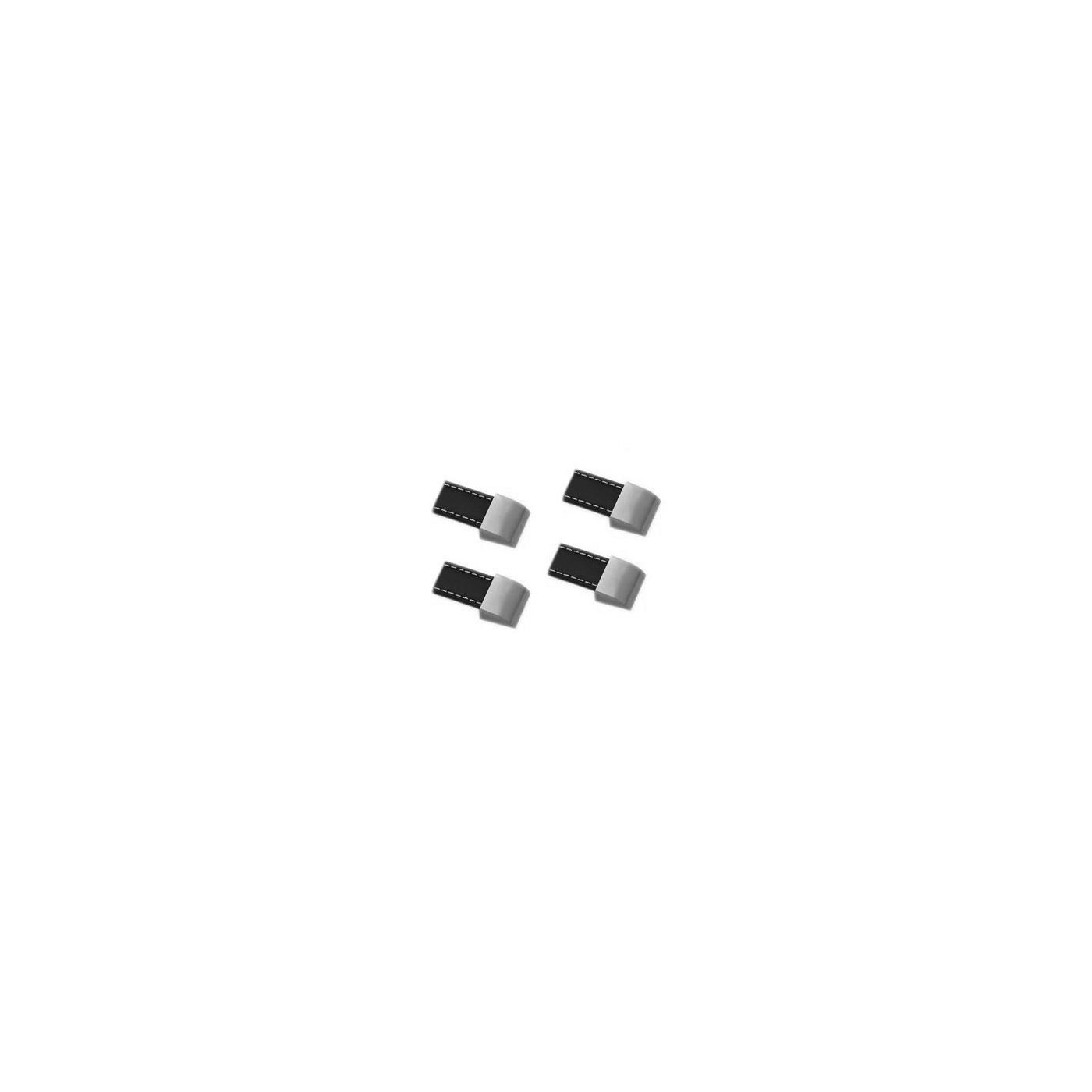 Set di 4 manici in pelle (foro singolo, nero)
