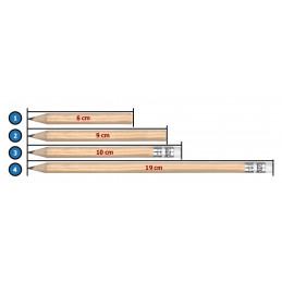Set of 120 mini pencils (type 3: 10 cm, with eraser)  - 3