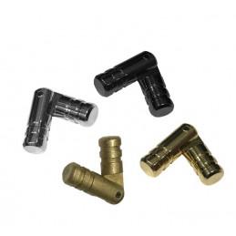 Jeu de 40 petites charnières (cachées) 5x25 mm, noires  - 1