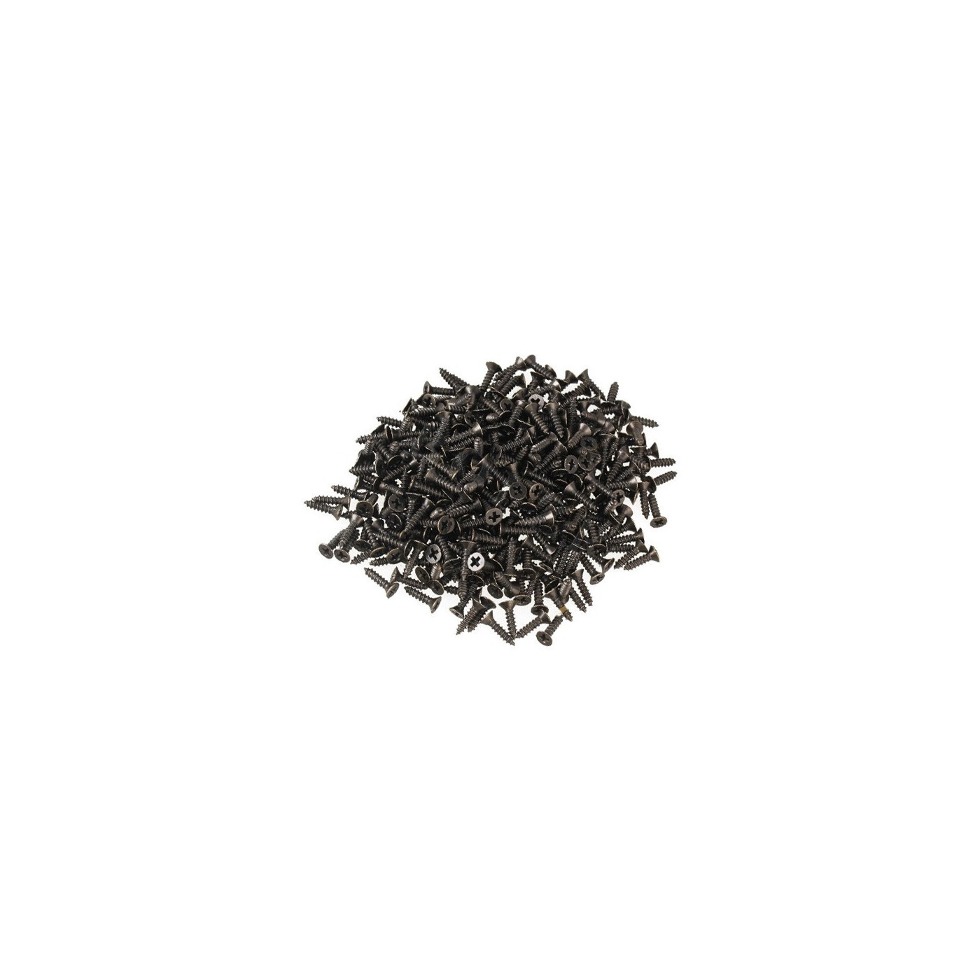100 mini screws (2.5x8 mm, countersunk, bronze color)