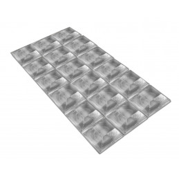 Set of 54 self adhesive buffers (type 4, 20x20 mm, trapezoid)  - 1