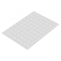 Set von 300 selbstklebenden Puffern (Typ 1, 8,0x1,5 mm)
