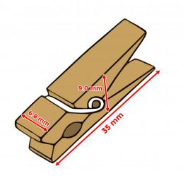 Zestaw 100 kolorowych szpilek na ubrania z drewna (35 mm)  - 2
