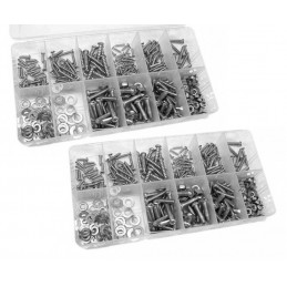 Big set of 694 bolts, nuts, washers and screws
