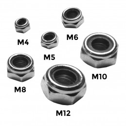 Zestaw 200 sztuk nakrętek samozabezpieczających (M4-M12)  - 2