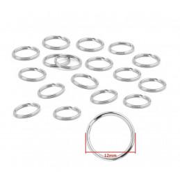 Set van 180 metalen sleutelringen voor sleutelhangers (12 mm