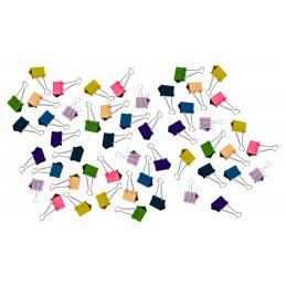 Set di 50 graffette (19 mm, multicolore) in 5 blister