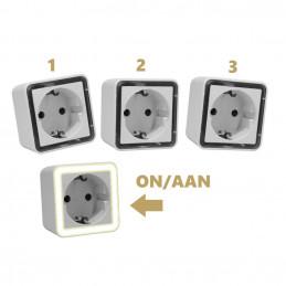 Conjunto de 3 luzes noturnas com sensor de luz (também para crianças)  - 2