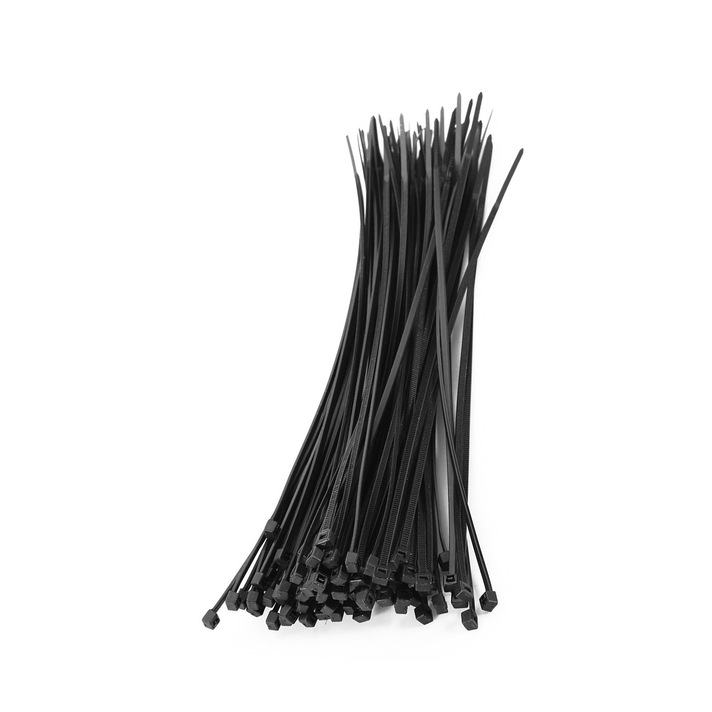 Set van 300 tie wraps (kabelbinders) (zwart)