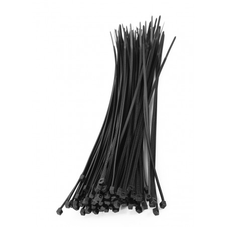 Set of 300 tie wraps (black)