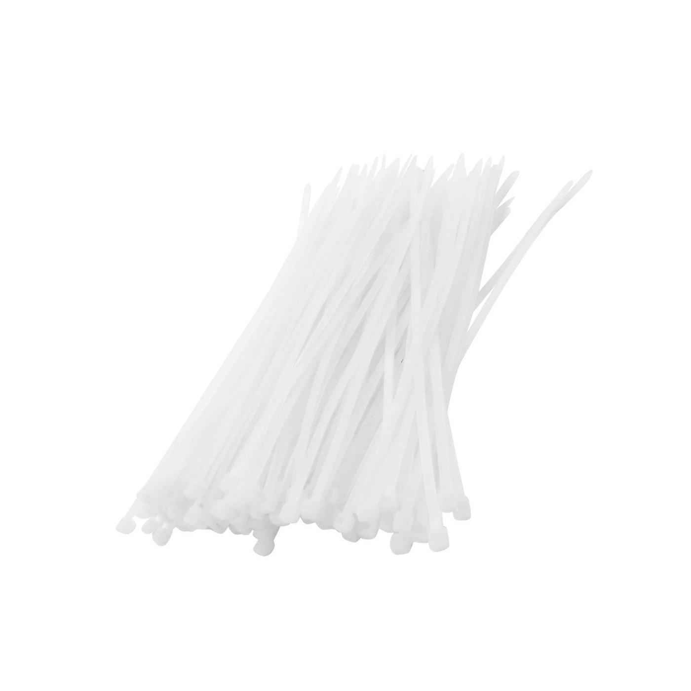 Set van 300 tie wraps (kabelbinders) (wit)  - 1