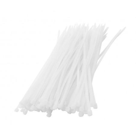 Set of 300 tie wraps (white)