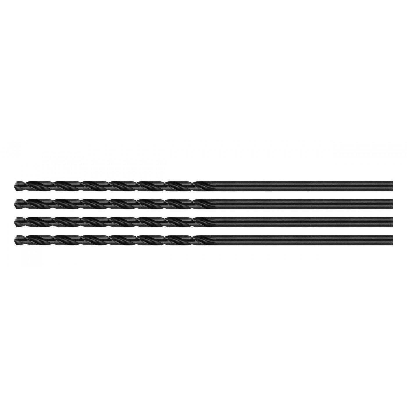 Set of 4 metal drill bits, extra long (5.2x350 mm)
