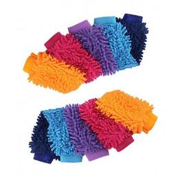 Conjunto de 10 guantes súper de limpieza para lavar autos  - 1