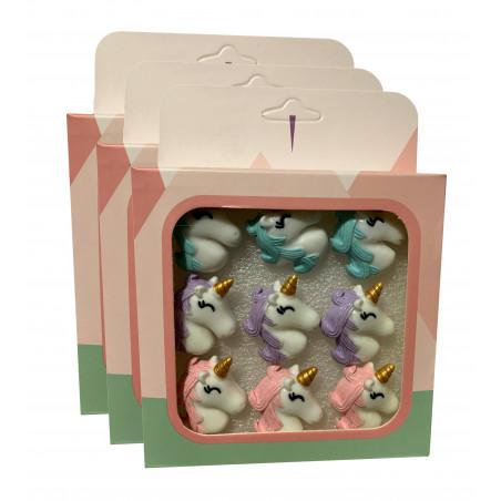 Set of 27 cute thumbtacks in boxes (model: unicorn1)