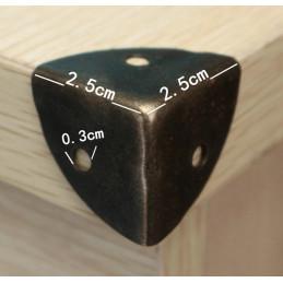 Zestaw 24 narożników pudełka 25x25x25 mm, brąz