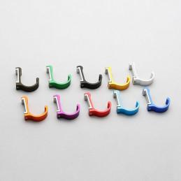 Set von 10 Aluminium-Kleiderhaken / Garderoben (gebogen, rot)  - 1