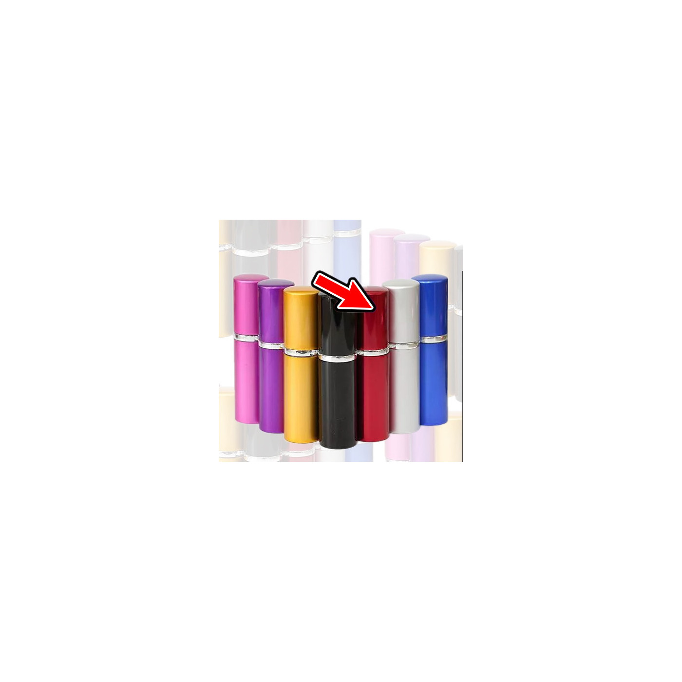 Set of 5 Atomizers (10 ml, red)